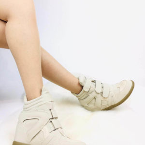Wedge Sneakers | Beige