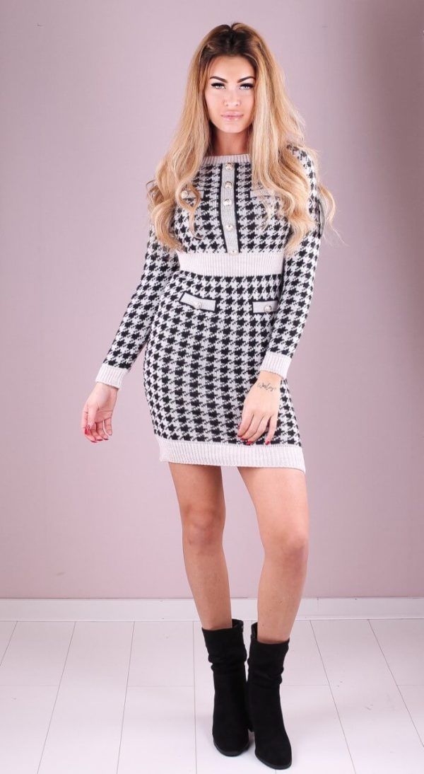 Inspired Print Button Dress | Wit